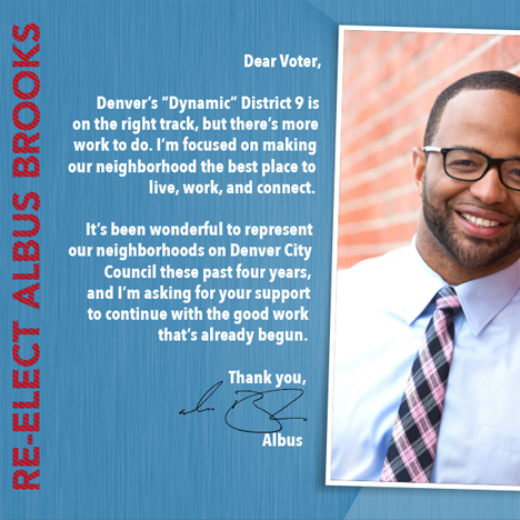 Mailers for Albus Brooks for City Council campaign