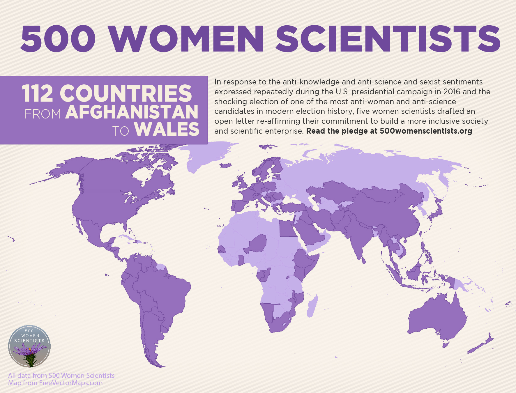 500 Women Scientists infographic (country detail)