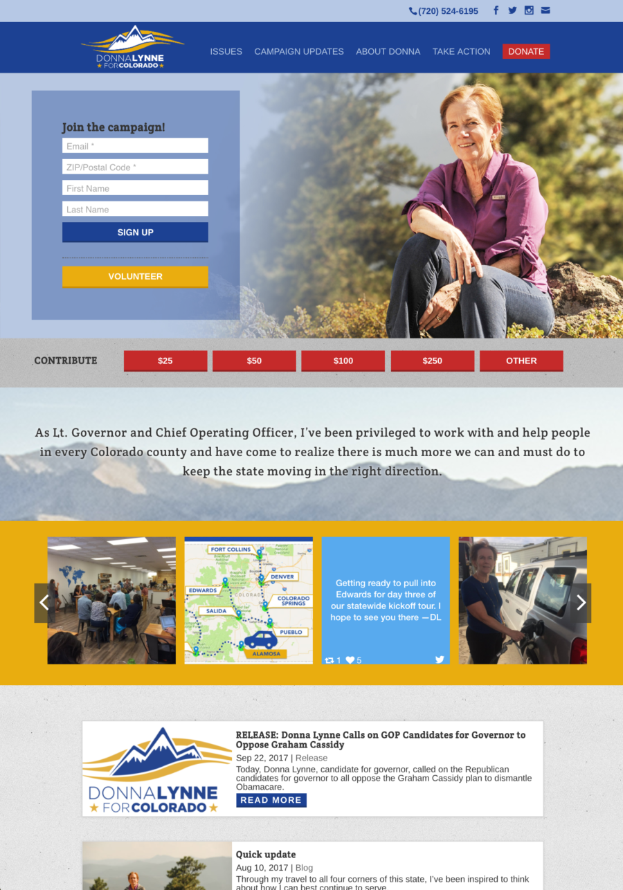 Lynne for Colorado full home page