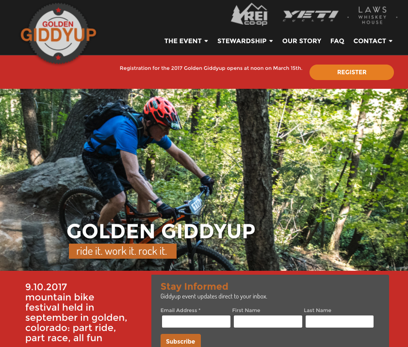 Golden Giddyup web site home page