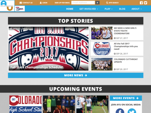 Altitude Youth Ultimate web site