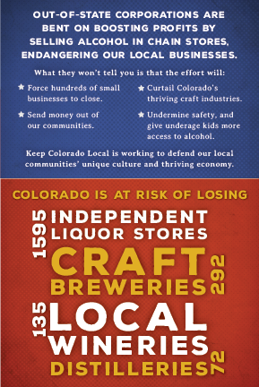 KCL insert for 6-pack at liquor store detail