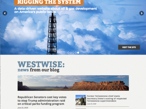 Center for Western Priorities web site